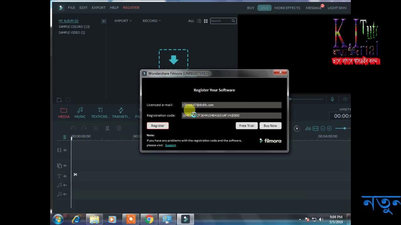 Code filmora 9